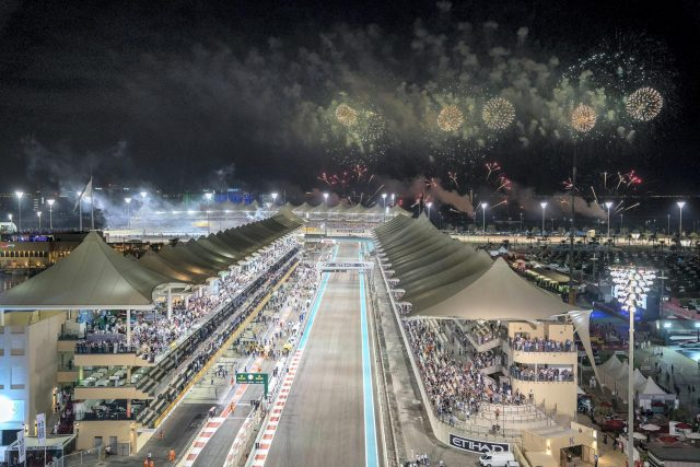 There are always fireworks when the F1 rolls into town. Courtesy Crown Prince Court - Abu Dhabi